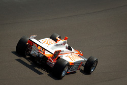 Bryan Herta makes a lap with Dan Wheldon's 2011 Indy 500 winning car