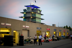Gasoline Alley early in the morning