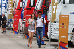Charles Ng, BMW 320 TC, Liqui Moly Team Engstler and his girlfriend