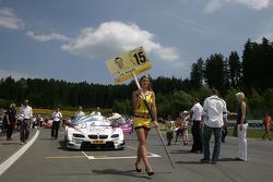 Grid girl of Andy Priaulx, BMW Team RBM BMW M3 DTM