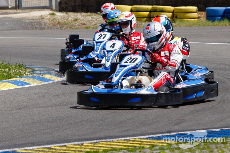 Drivers and media kart challenge at Circuit Alain Prost: Romain Dumas