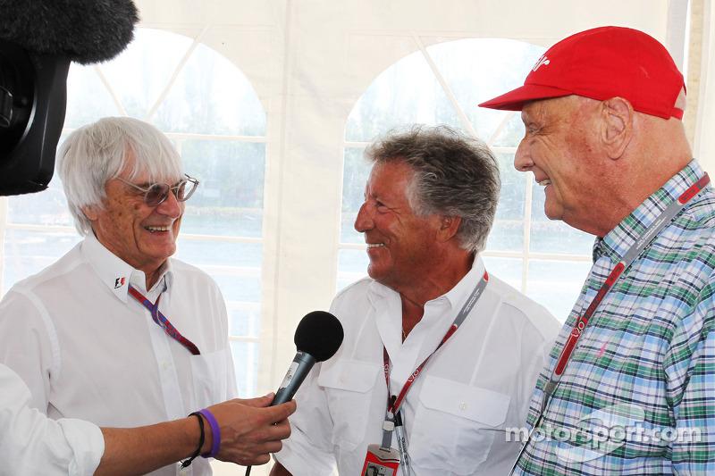 Bernie Ecclestone Ceo Formula One Group With Mario