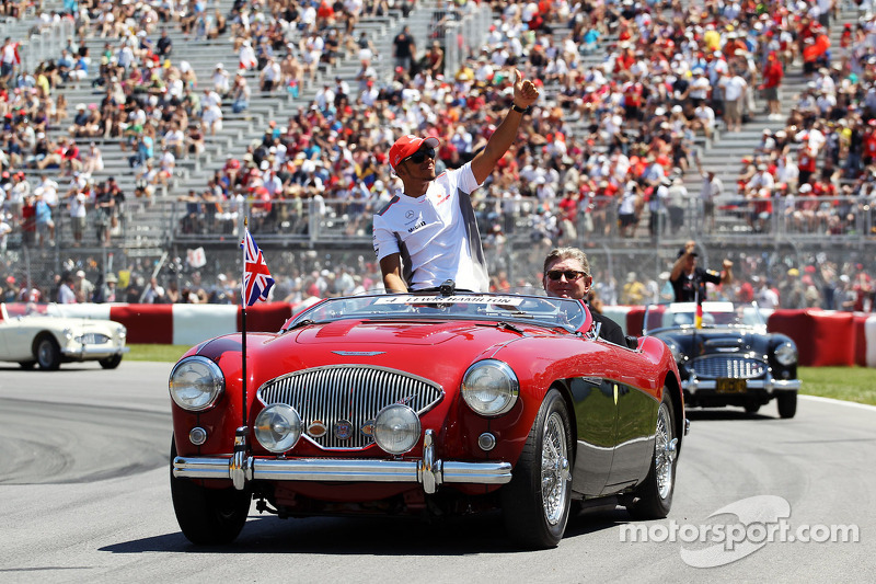 Lewis Hamilton, McLaren Mercedes on the drivers parade