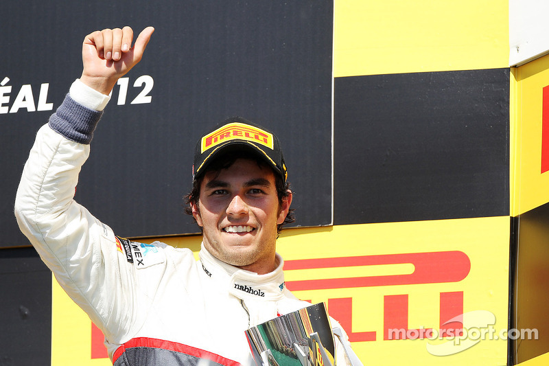 Sergio Pérez, Sauber celebra su tercer puesto en el podio