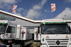 Team Gresini trucks