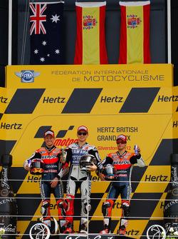 Podio: ganador de la carrera Jorge Lorenzo Yamaha Factory Racing, Casey Stoner, del equipo Repsol Ho