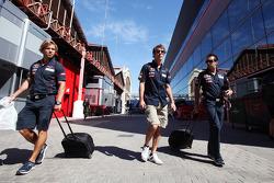 Jean-Eric Vergne, Scuderia Toro Rosso in the paddock