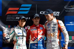 Podium from left: Jazeman Jaafar, Jack Harvey and Harry Tincknell