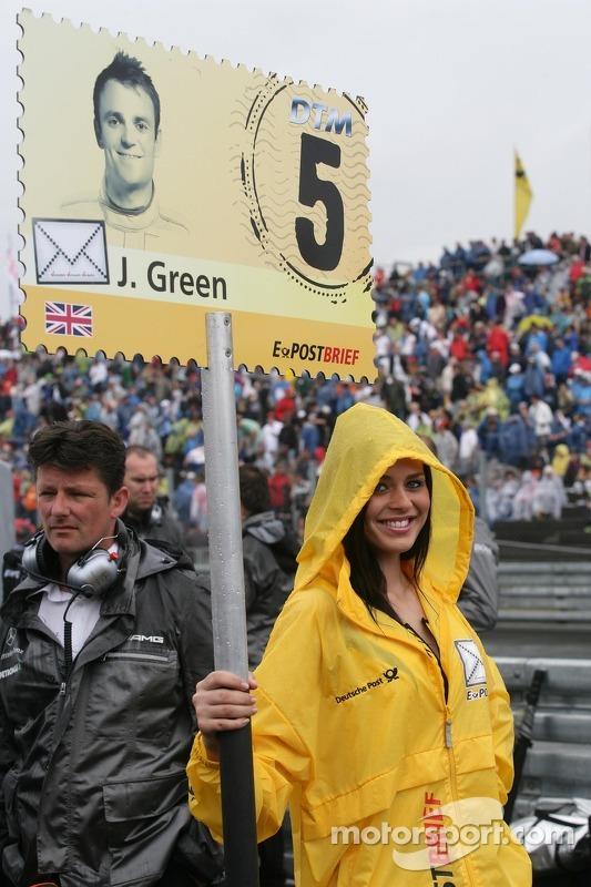 Gridgirl von Jamie Green, Team HWA AMG Mercedes, AMG Mercedes C-Coupe