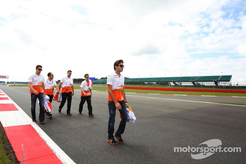 Jules Bianchi, Sahara Force India F1 Team derde rijder en Paul di Resta, Sahara Force India F1 wande