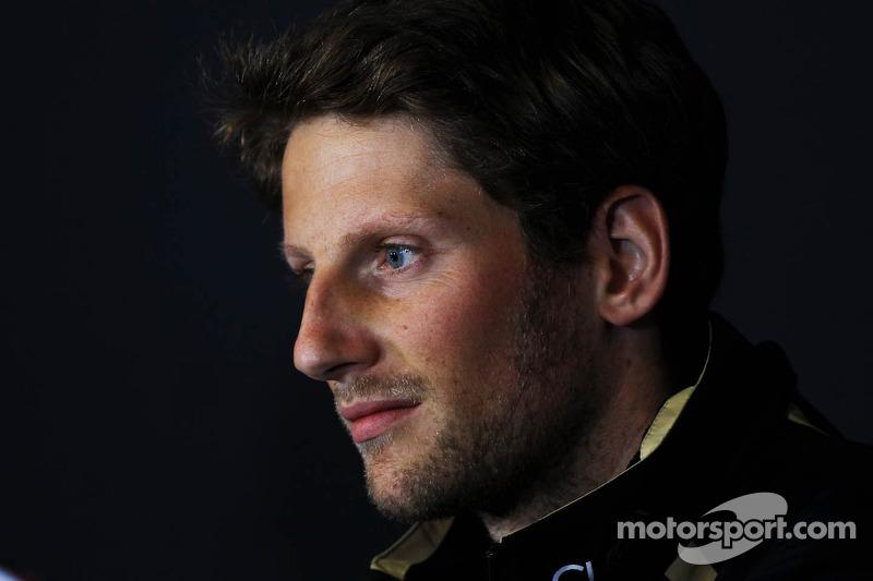 Romain Grosjean, Lotus F1 Team in de FIA persconferentie