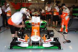 Nico Hulkenberg, Sahara Force India F1 in the pits