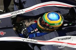 Bruno Senna, Williams wears a star on his helmet for Maria De Villota, Marussia F1 Team Test Driver
