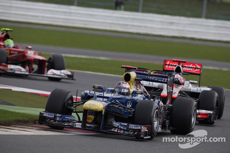 Sebastian Vettel, Red Bull Racing voor Jenson Button, McLaren Mercedes