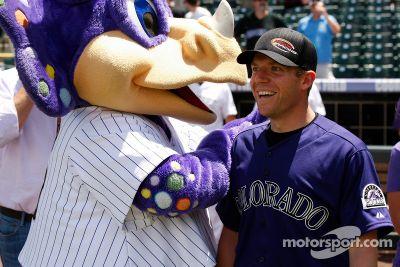 Regan Smith attends an MLB baseball game