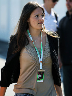 A VIP arrives at the circuit