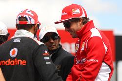 Lewis Hamilton, McLaren Mercedes y Fernando Alonso, Scuderia Ferrari