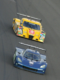 #90 Spirit of Daytona Racing Corvette DP: Antonio Garcia, Richard Westbrook and #77 Doran Racing Ford Dallara: Jim Lowe, Paul Tracy