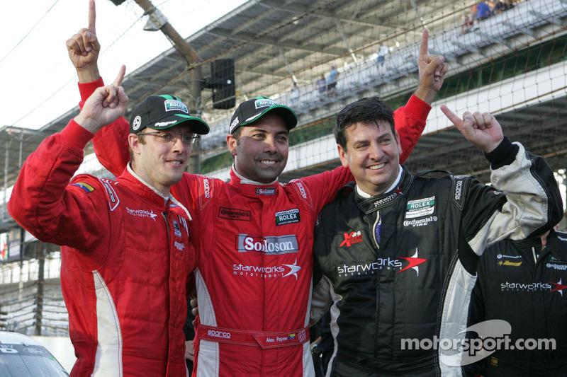 Race winners Alex Popow, Sébastien Bourdais