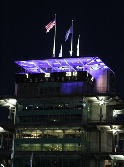 The Pagoda in the early morning on race day