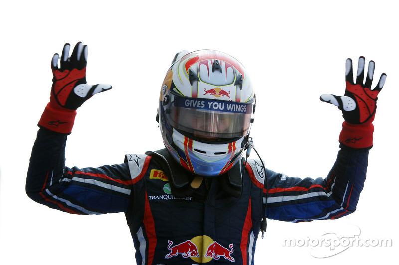 Race winner Antonio Felix da Costa celebrates