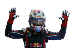 Race winner Antonio Felix da Costa celebrates