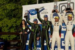 GT podium: Scott Sharp, Johannes van Overbeek