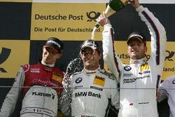 Podium , 2nd Edoardo Mortara, Audi Sport Team Rosberg Audi A5 DTM, 1st Bruno Spengler, BMW Team Schnitzer BMW M3 DTM, 3rd Martin Tomczyk, BMW Team RMG BMW M3 DTM