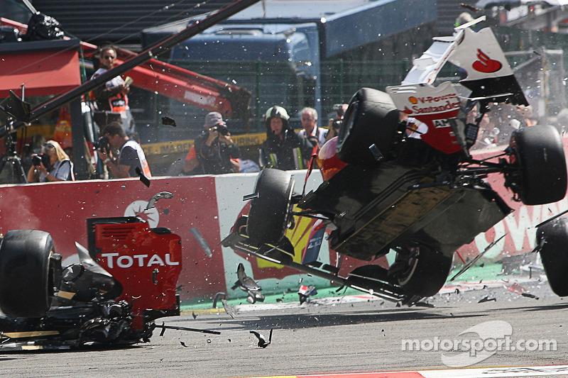 GP Bélgica 2012: un accidente con el que perdía ventaja