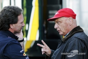 Christian Horner, Red Bull Racing Team Principal with Niki Lauda