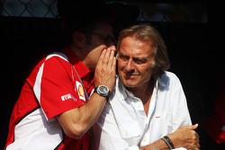 Stefano Domenicali, Ferrari General Director with Luca di Montezemolo, Ferrari President