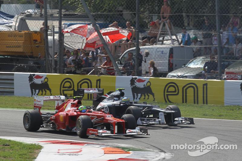 Felipe Massa, Scuderia Ferrari en Bruno Senna, Williams F1 Team