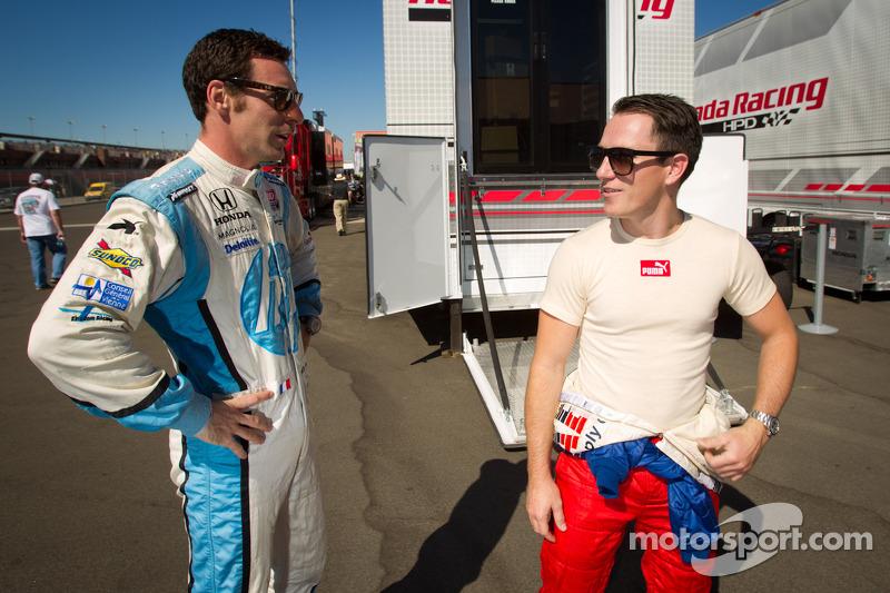 Simon Pagenaud, Schmidt/Hamilton Motorsports Honda and Wade Cunningham, A.J. Foyt Racing Honda