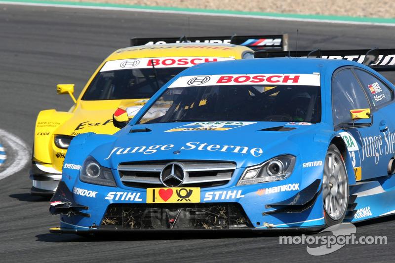 Roberto Merhi, Persson Motorsport AMG Mercedes C-Coupe en Dirk Werner, BMW Team Schnitzer BMW M3 DTM