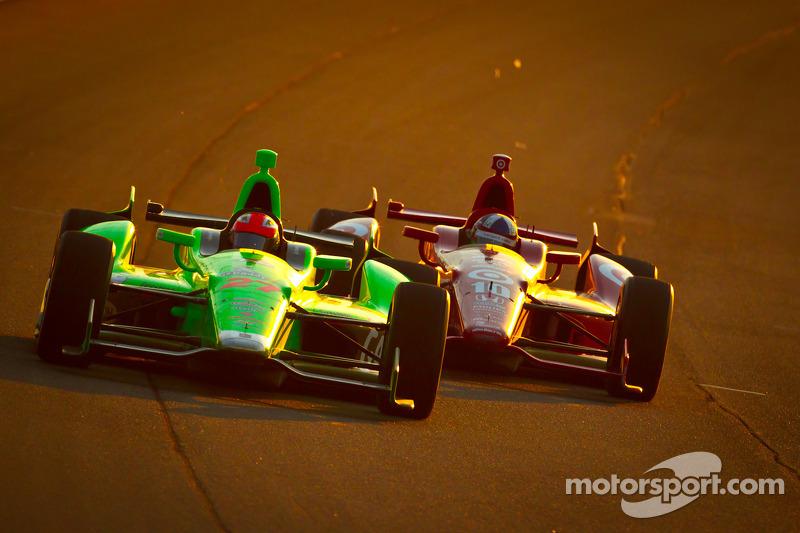 James Hinchcliffe, Andretti Autosport Chevrolet, Dario Franchitti, Target Chip Ganassi Racing Honda