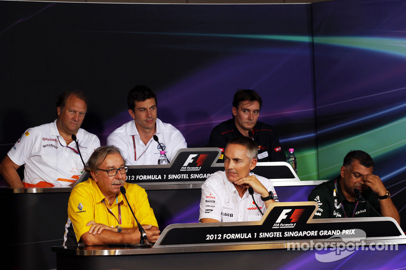 The FIA press conference