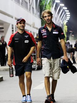Timo Glock, Marussia F1 Team with Jean-Eric Vergne, Scuderia Toro Rosso