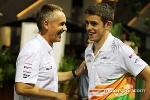 Martin Whitmarsh, McLaren Chief Executive Officer with Paul di Resta, Sahara Force India F1