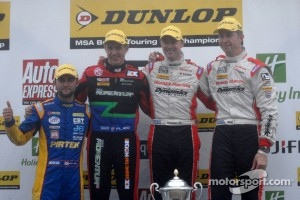 Championship contenders Gordon Shedden, 2nd Matt Neal, 3rd Jason Plato and Independent  Andrew Jordan