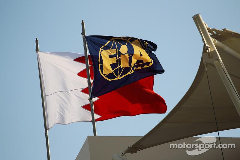 FIA and Bahrain flags