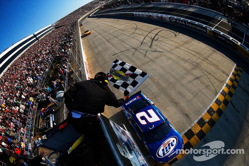 Brad Keselowski, Penske Racing Dodge takes the win