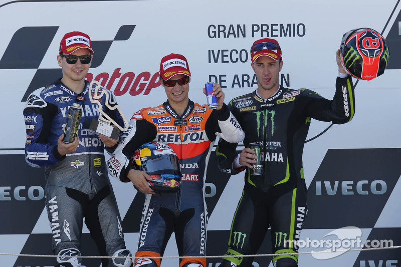 2012: 1.  Dani Pedrosa, 2. Jorge Lorenzo, 3. Andrea Dovizioso