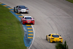 #33 Ferrari of San Francisco 458CS: Peter Carlino, #8 Ferrari of Ft Lauderdale 458TP, #13 Ferrari of Ontario 458CS: Marc Muzzo