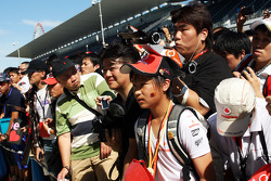 McLaren fans at the pit lane walkabout