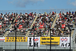 Banners for Lewis Hamilton, McLaren
