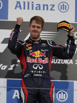First place for Sebastian Vettel, Red Bull Racing