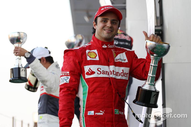 Felipe Massa, Ferrari viert tweede plaats op podium