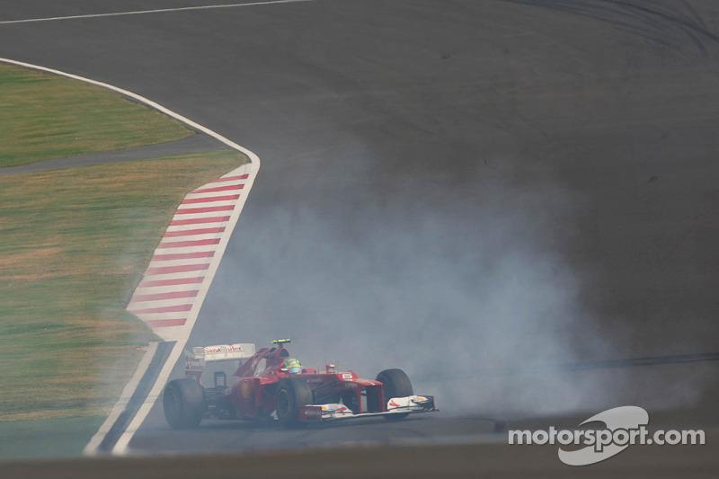 Fernando Alonso, Ferrari spint tijdens kwalificaties
