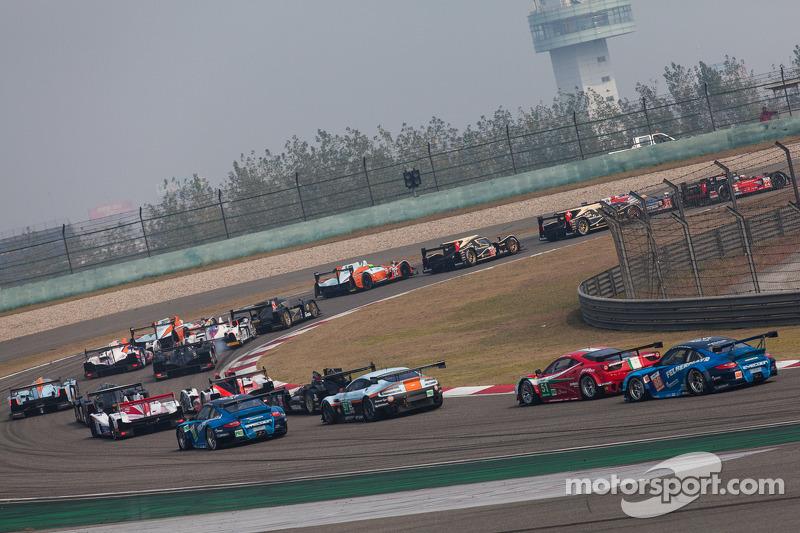 Race start of the 6 Hours of Shanghai