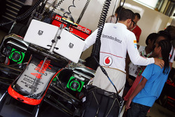 Lewis Hamilton, McLaren with guests